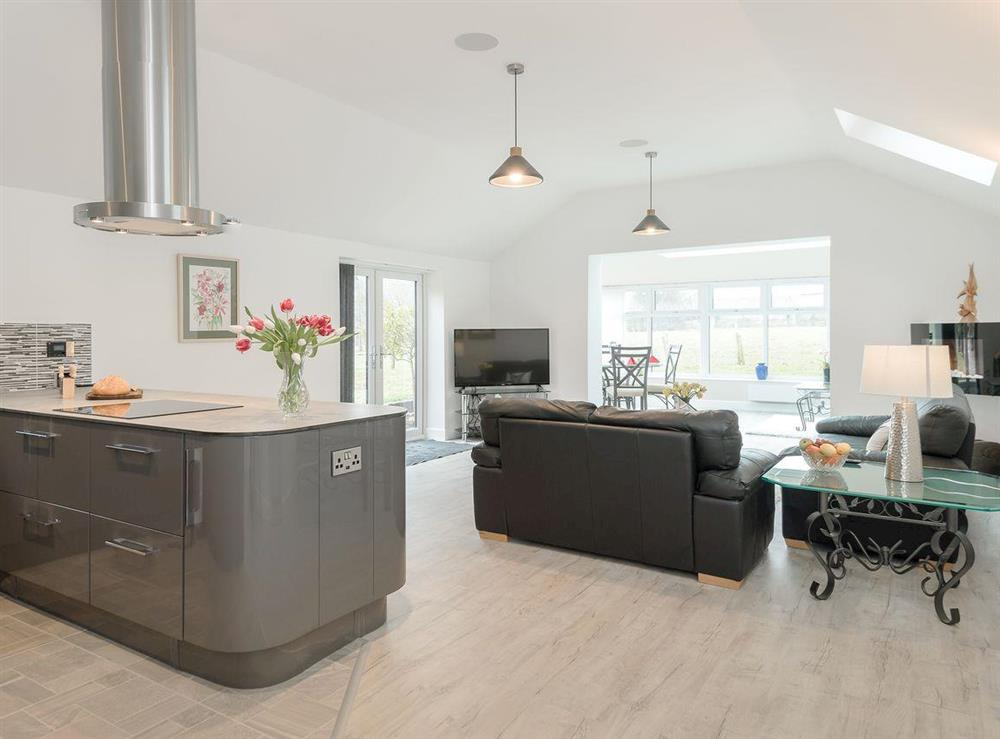 Luxurious open plan living space at Bay Cottage in Boughton, near Downham Market, Norfolk