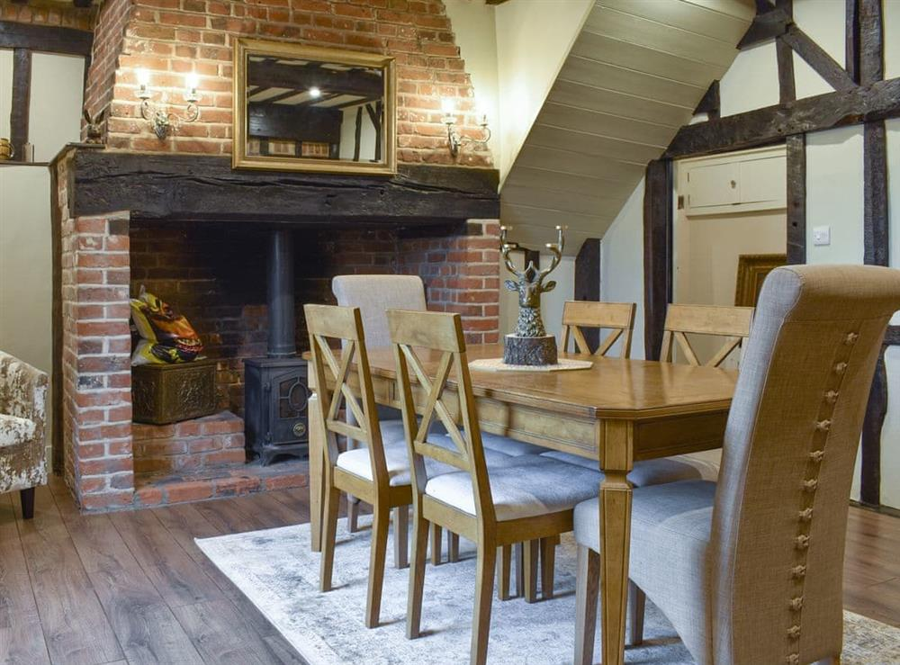 Dining room at Bay Cottage in Bradwell-on-Sea, near Southminster, Essex