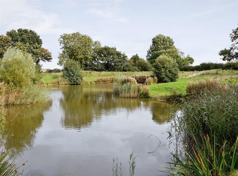 The lake at Bay in Great Yarmouth, Norfolk