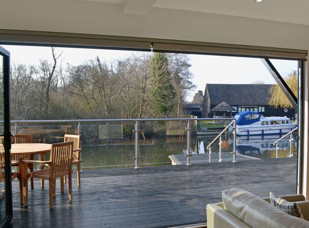 View at Bay Tree Lodge in Hoveton, near Wroxham, Norfolk