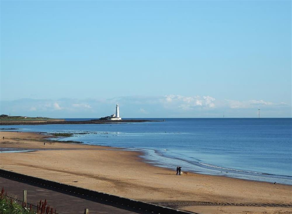 Wonderful view across the bay towards St Mary's lighthouse at Bay View in Whitley Bay, Tyne and Wear