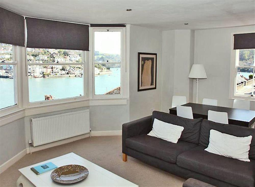 Living room with sea views at sleeps 5/6,