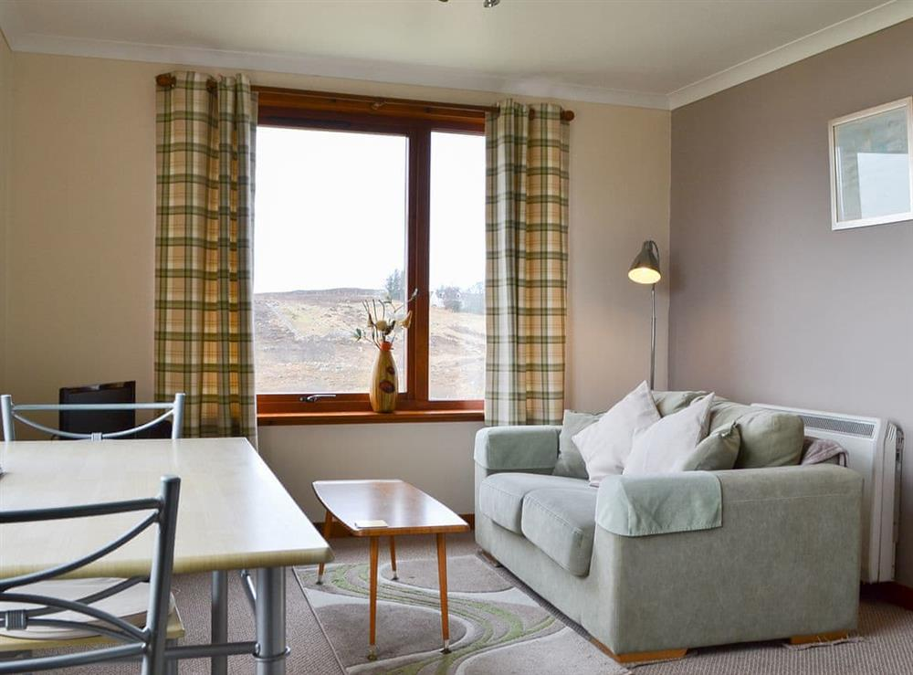 Open plan living space at Bayview in Gairloch, Ross-Shire