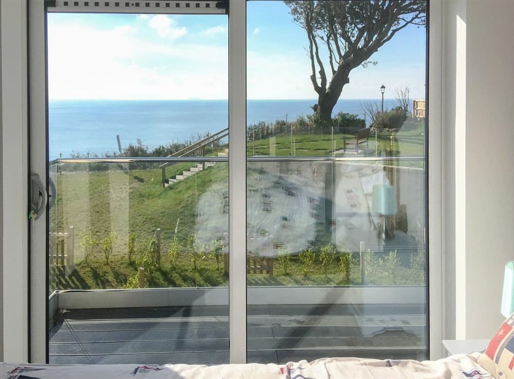 Wonderful views from the bedroom at Bayview, Royal Cliff in Sandown, Isle of Wight