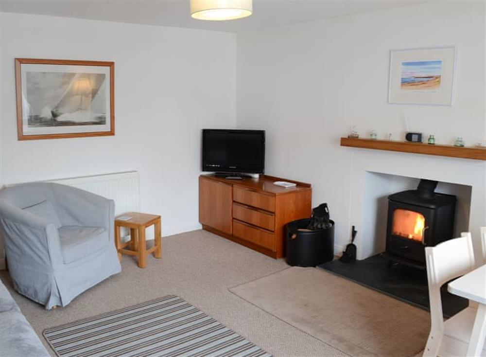 Living room at Beach Bothy in Nairn, Morayshire