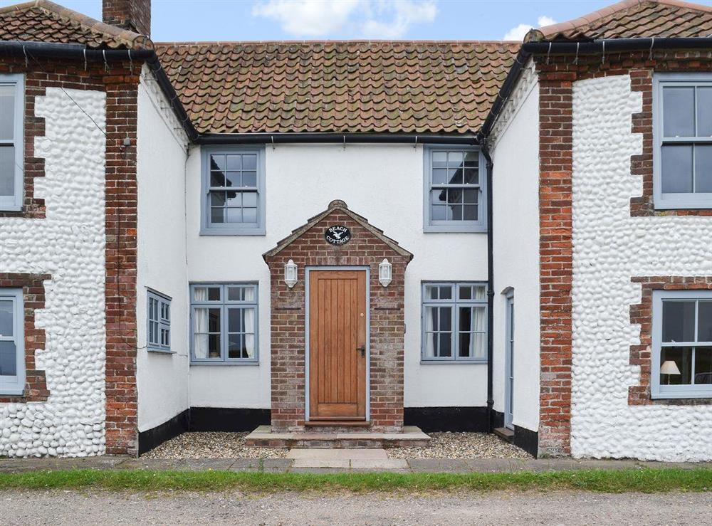Old terraced fisherman's cottage at Beach Cottage in Cley next the Sea, near Holt, Norfolk