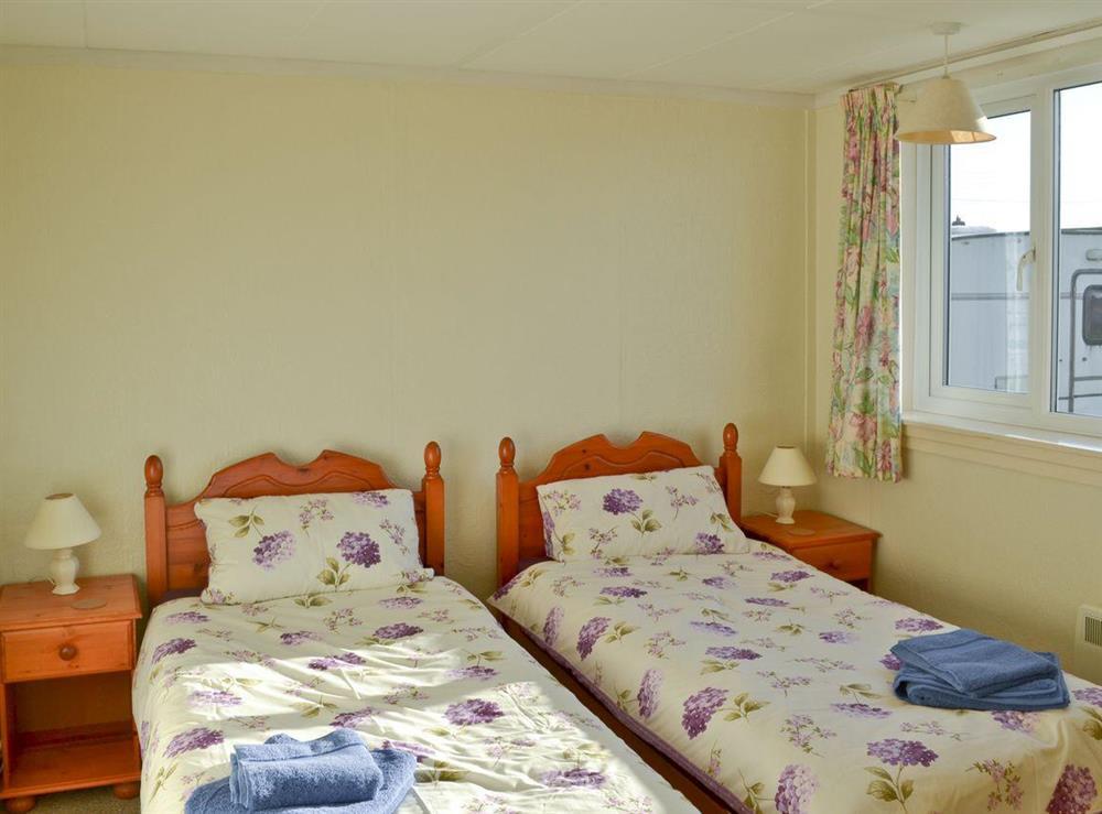 Twin bedroom at Beach View in Walcott, near Happisburgh, Norfolk