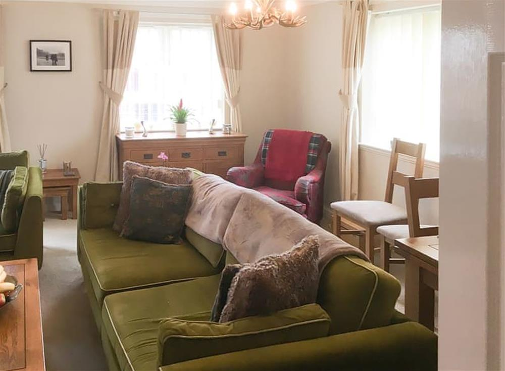 Comfortable living area at Beachside in Ayr, Ayrshire