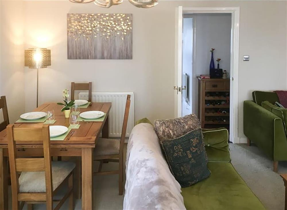 Dining area and hall access at Beachside in Ayr, Ayrshire