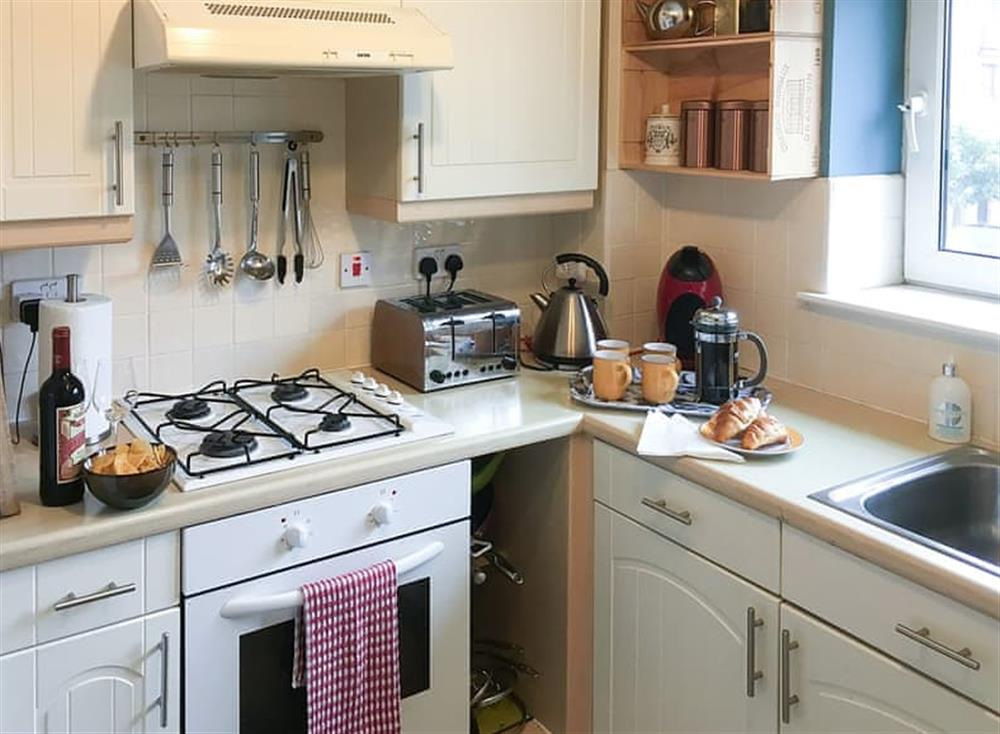 Well equipped kitchen at Beachside in Ayr, Ayrshire