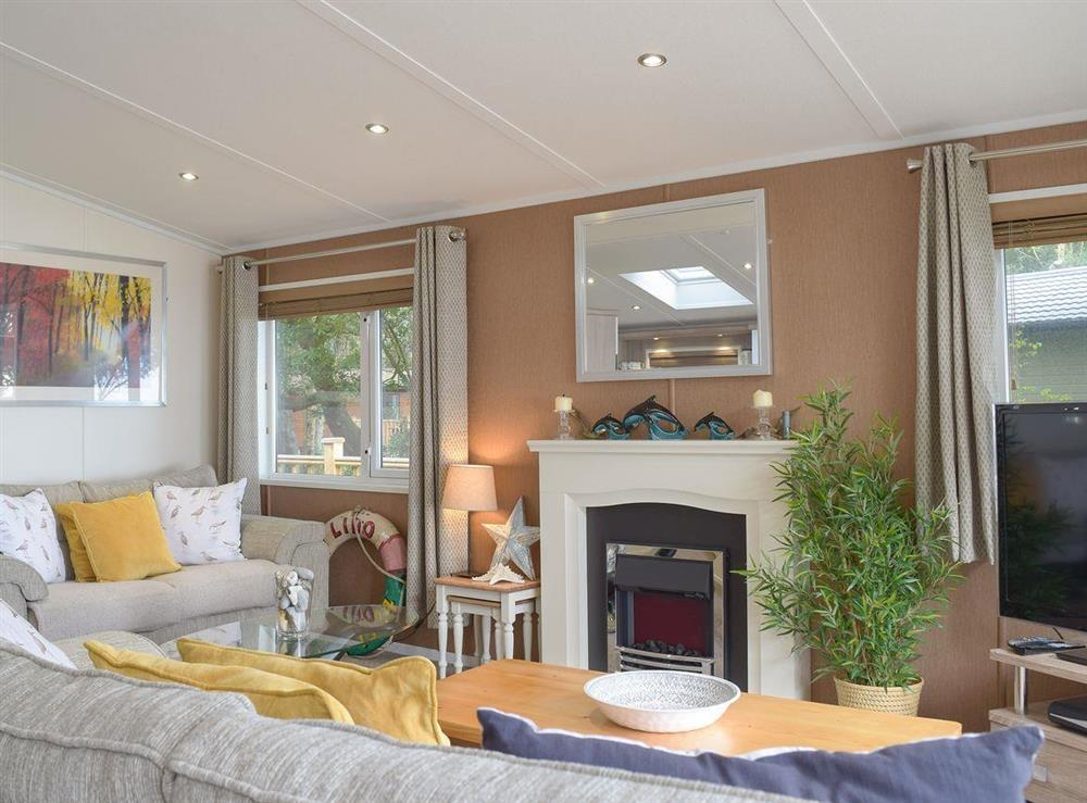 Comfortable, well presented open plan living space at Beachwood in Corton, near Lowestoft, Suffolk
