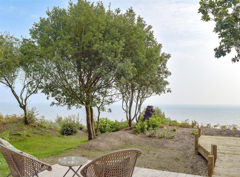 Delightful sea views from decking area at Beachwood in Corton, near Lowestoft, Suffolk