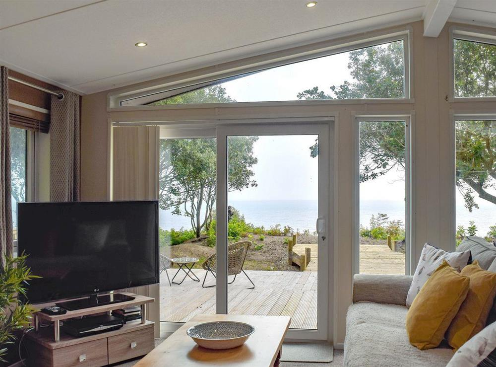 Open plan living spac with stunning sea views at Beachwood in Corton, near Lowestoft, Suffolk