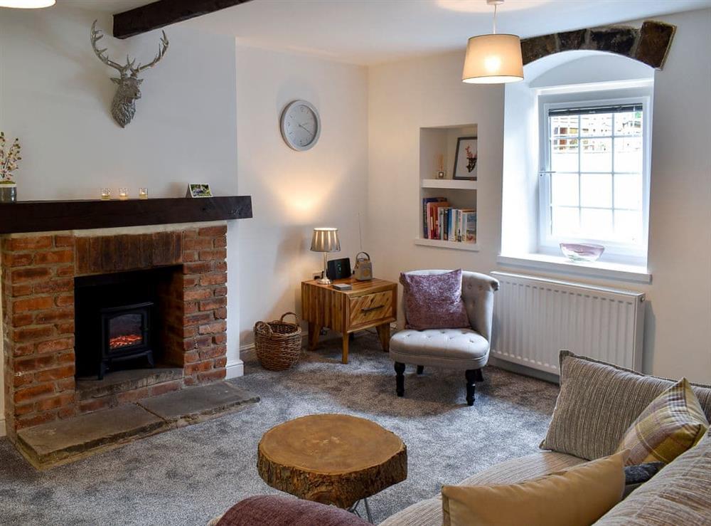 Living room at Beckside Cottage in Silsden, West Yorkshire