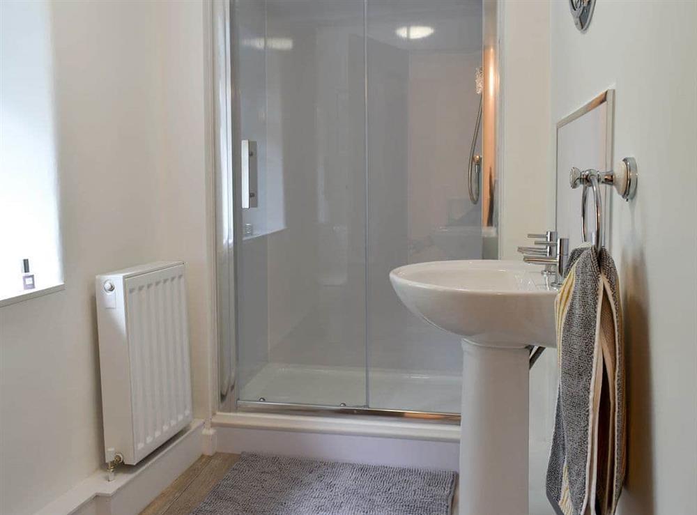 Shower room at Beckside Cottage in Silsden, West Yorkshire