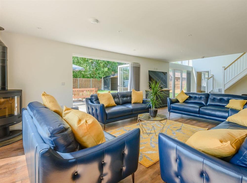 Living area at Alderfen Barn,