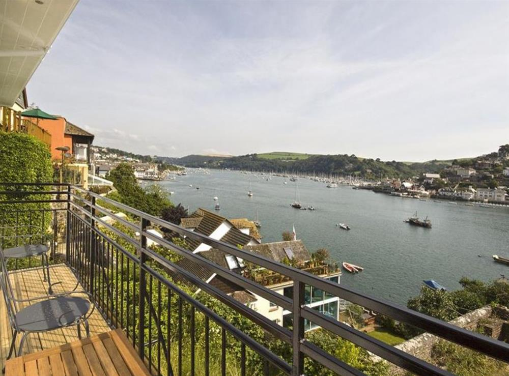 View from balcony at Beechcroft, Apartment 2 in Dartmouth, Devon