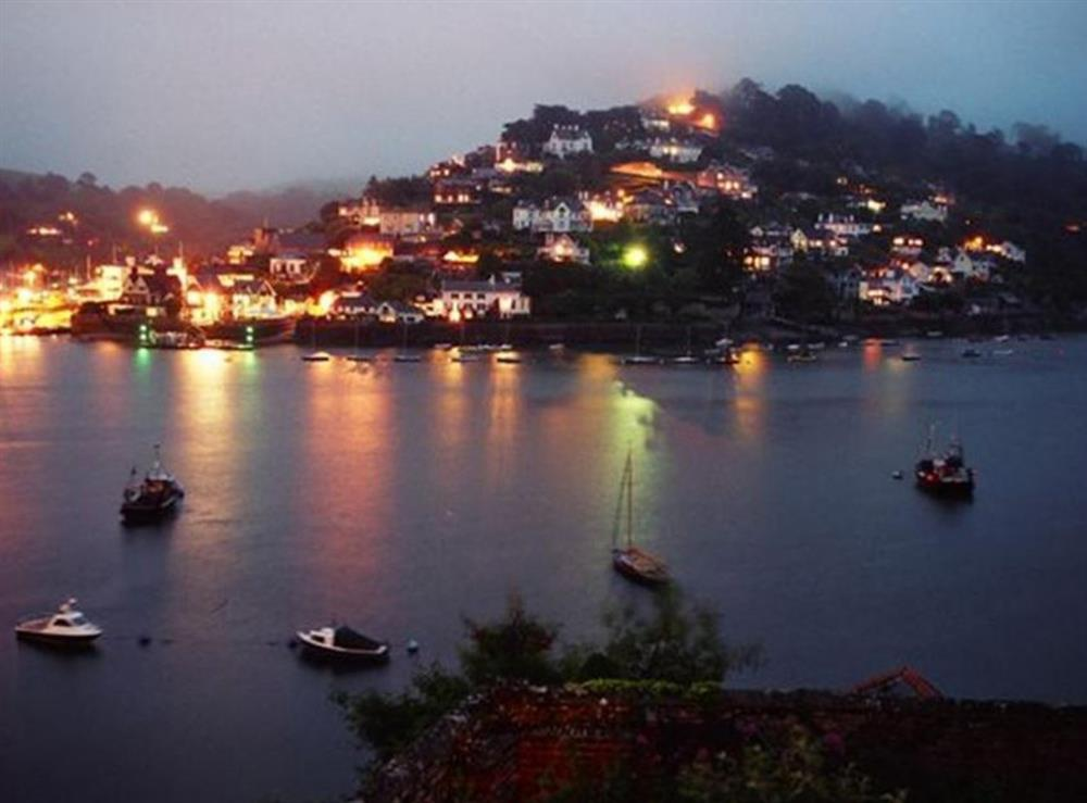 View from house at night looking over Kingswear at Beechcroft, Apartment 2 in Dartmouth, Devon