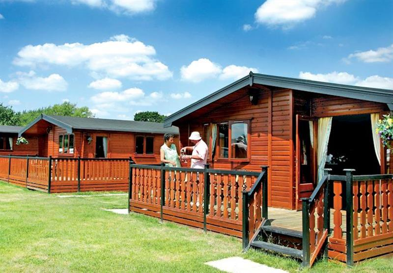 The tranquil setting of the lodges at Beechwood Park in Derbyshire, Heart of England