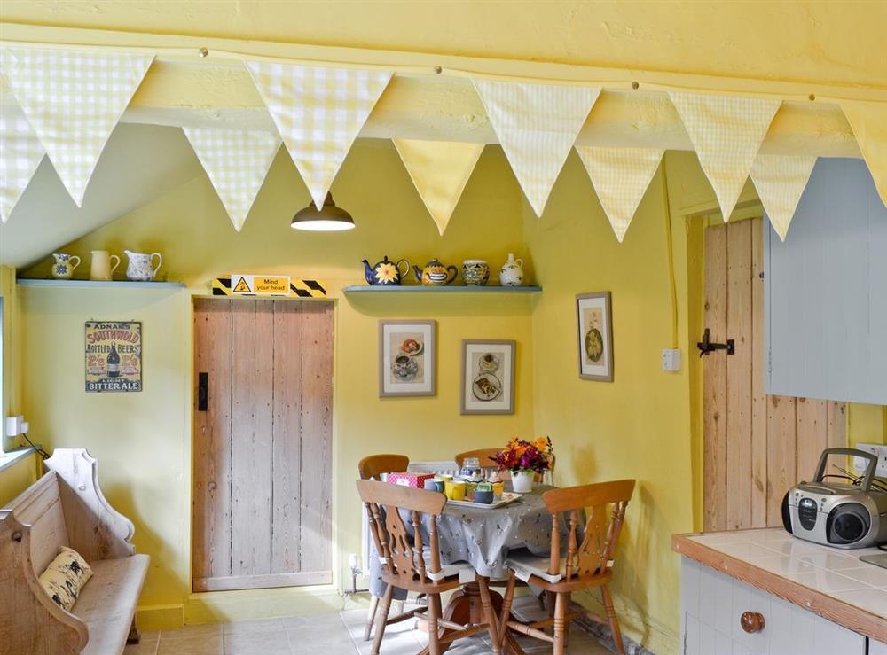 Dining Area at Bell Corner Cottage in Cratfield, Halesworth, Suffolk., Great Britain