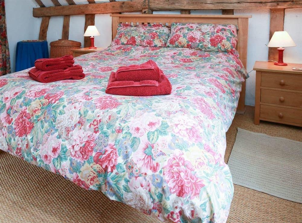 Double bedroom at Bell Corner Cottage in Cratfield, Halesworth, Suffolk., Great Britain