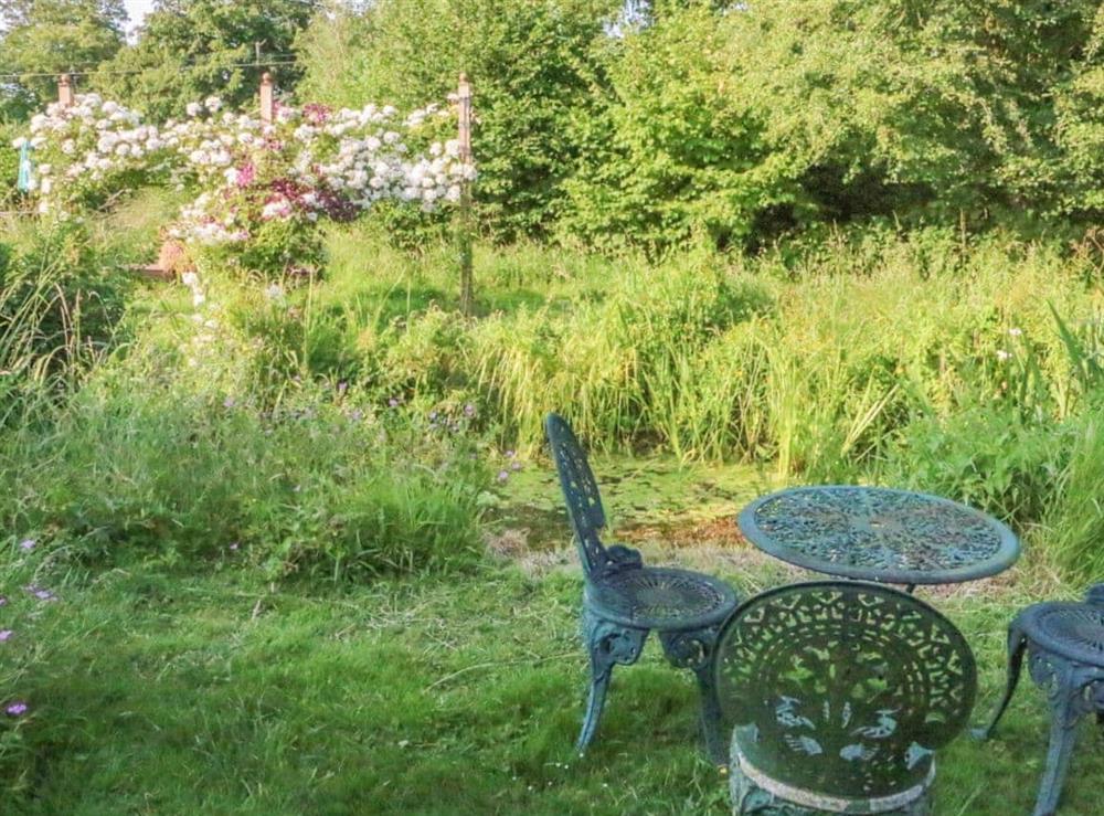 Garden at Bell Corner Cottage in Cratfield, Halesworth, Suffolk., Great Britain