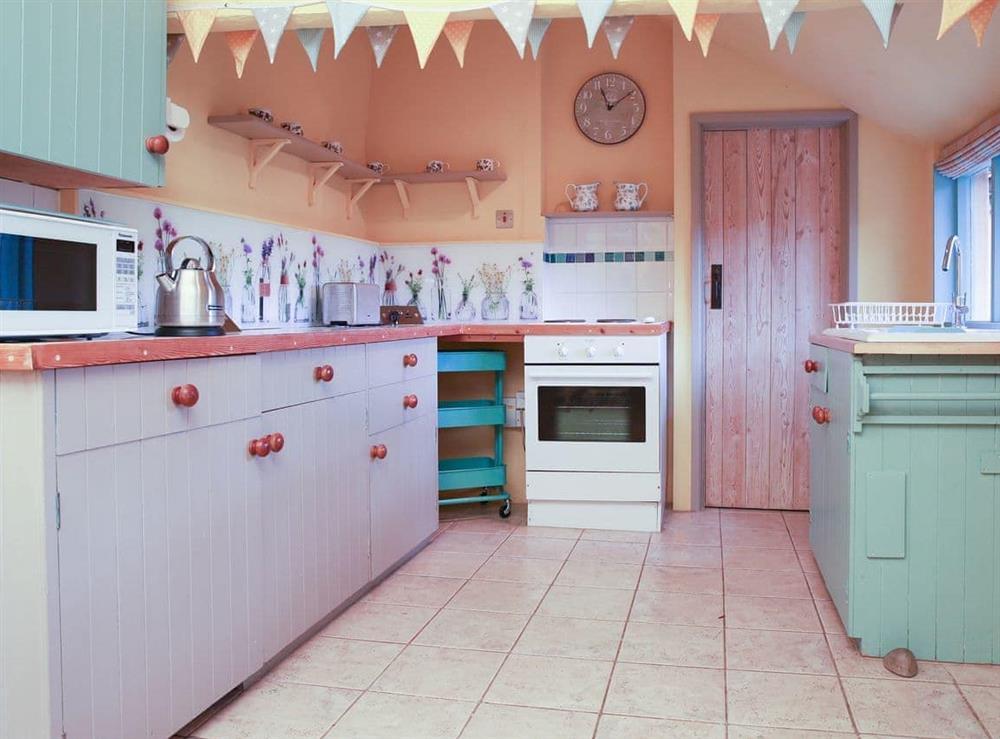 Kitchen at Bell Corner Cottage in Cratfield, Halesworth, Suffolk., Great Britain