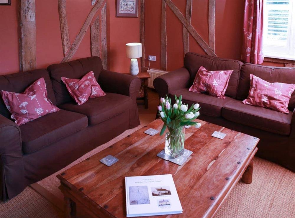 Living room at Bell Corner Cottage in Cratfield, Halesworth, Suffolk., Great Britain