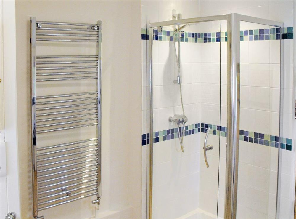 Shower room at Bell Corner Cottage in Cratfield, Halesworth, Suffolk., Great Britain