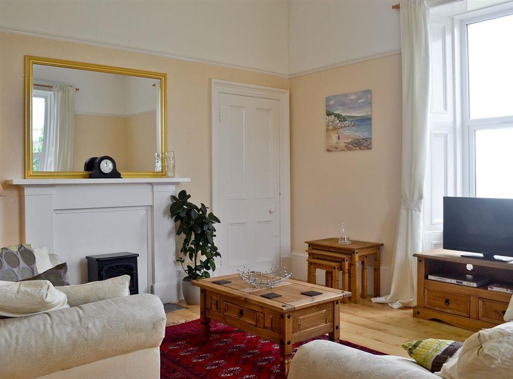 Living room at Bellevue in Strone, near Dunoon, Argyll
