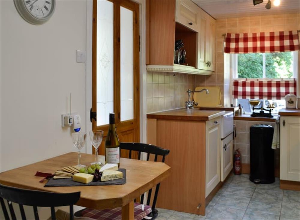 Kitchen with dining area (photo 2) at Belstane Cottage in Straiton, near Ayr, Ayrshire
