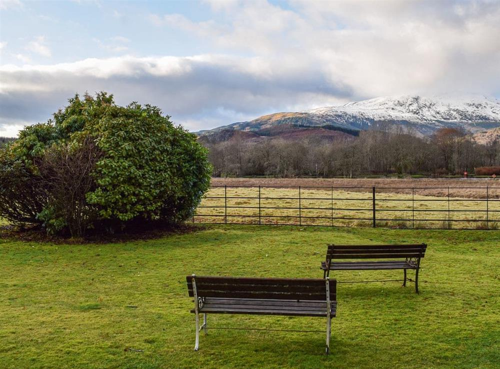 Sitting out area with great views at Ben Ledi View in Callander, Perthshire