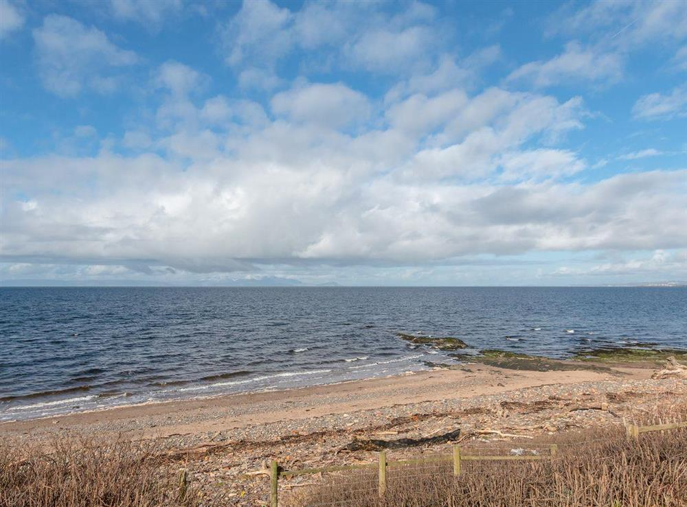 Direct access to the beach at the bottom of the garden at Bentfield in Prestwick, Ayrshire