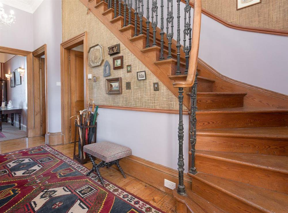 Hallway & staircase at Bentfield in Prestwick, Ayrshire