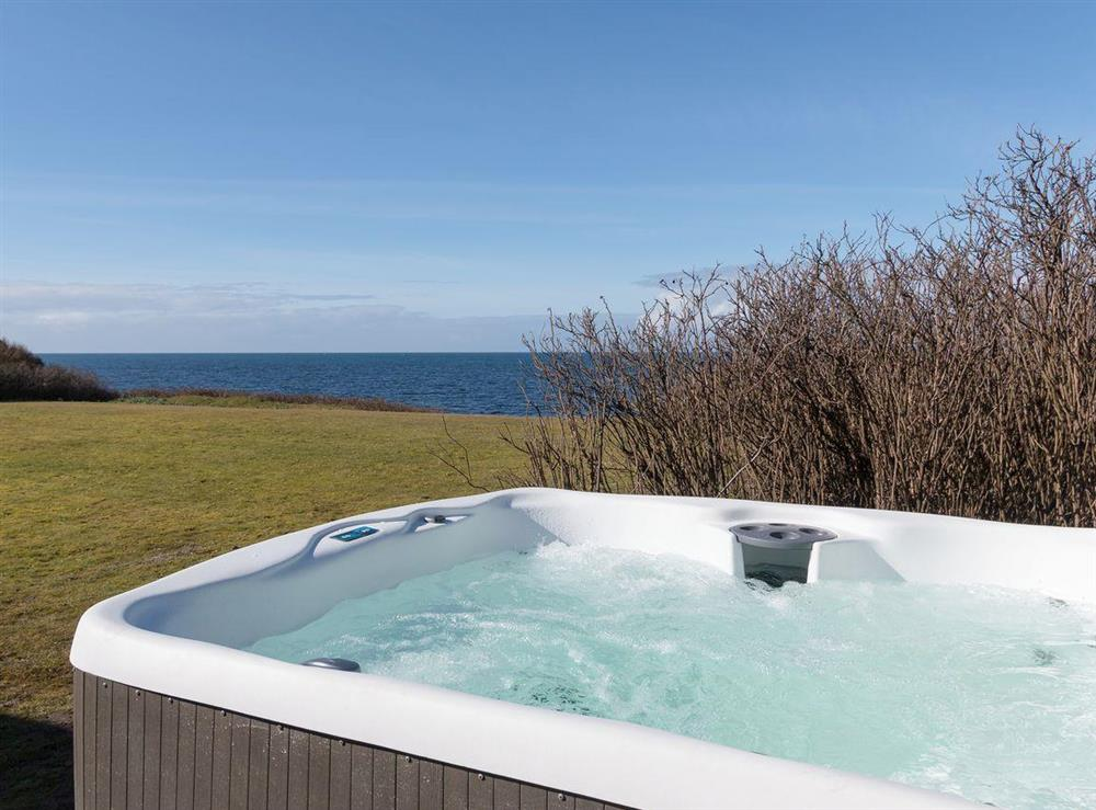 Hot tub with amazing sea views at Bentfield in Prestwick, Ayrshire