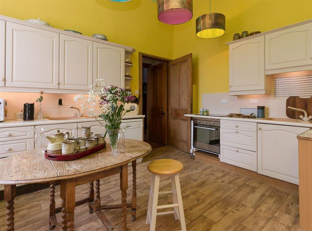 Kitchen with range cooker & dining area (photo 2) at Bentfield in Prestwick, Ayrshire