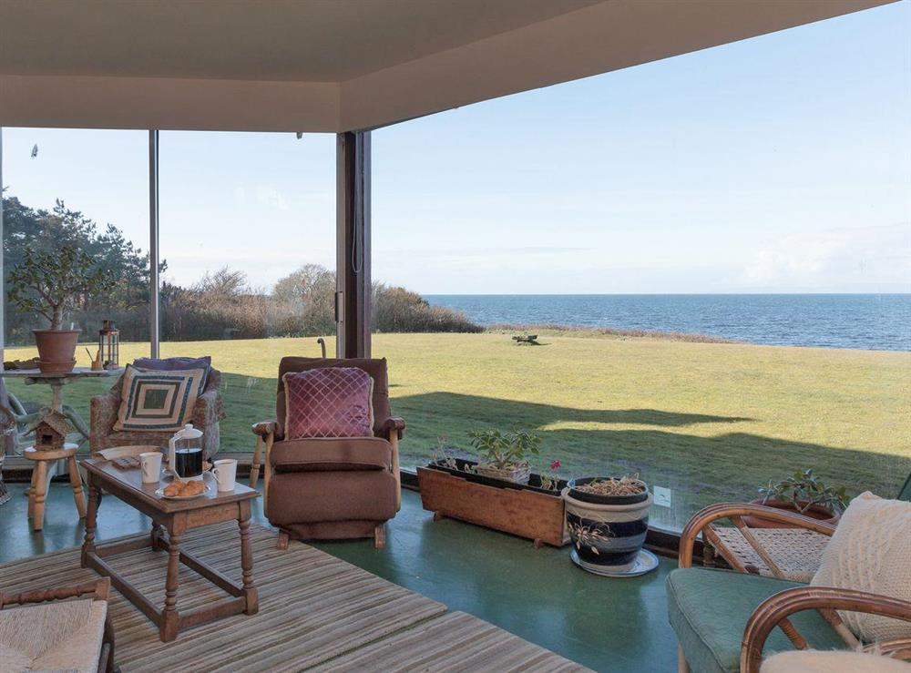 Sun room with fantastic sea views at Bentfield in Prestwick, Ayrshire