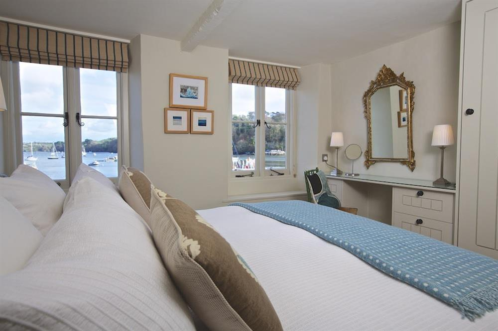 Master en suite bedroom with superb river views (photo 4) at Berry Cottage in , Dittisham
