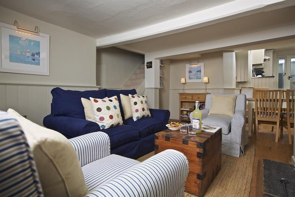 Very comfortably furnished sitting/dining room at Berry Cottage in , Dittisham