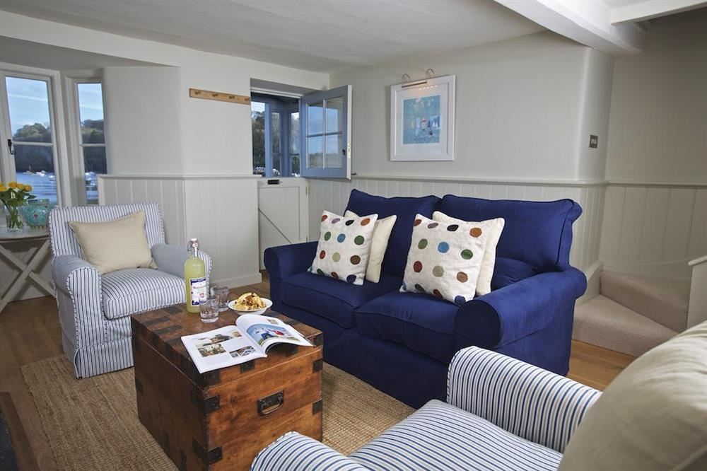 Very comfortably furnished sitting room with lovely views at Berry Cottage in , Dittisham