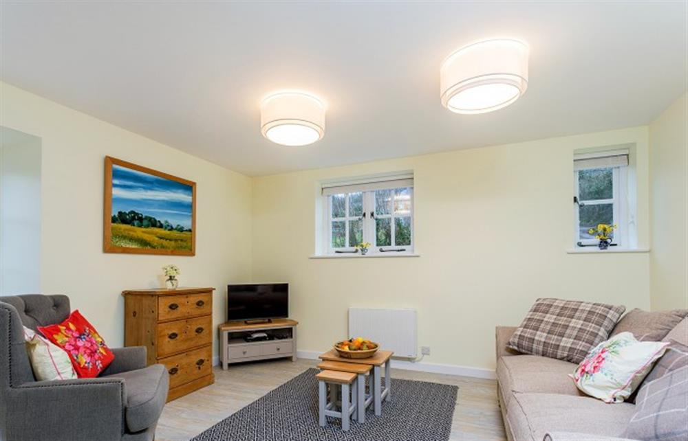 Generous living area at Betsy's Byre, Bridport