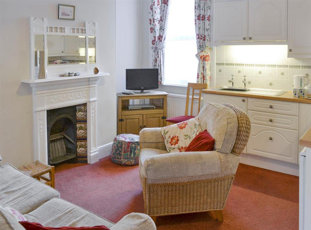 Welcoming open-plan living area at Wroxham,