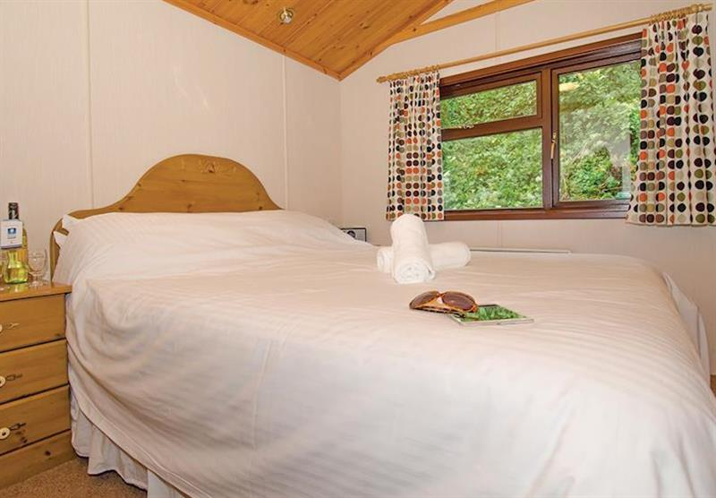 Bedroom in the Premier Plus 6 Lodge at Beverley View in Paignton, South Devon