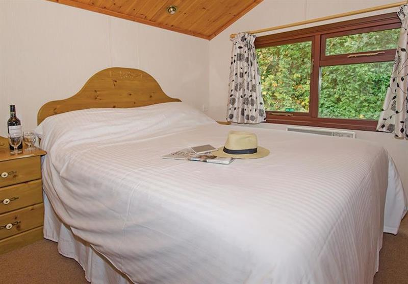 Double bedroom in Comfort Plus 6 Lodge at Beverley View in Paignton, South Devon