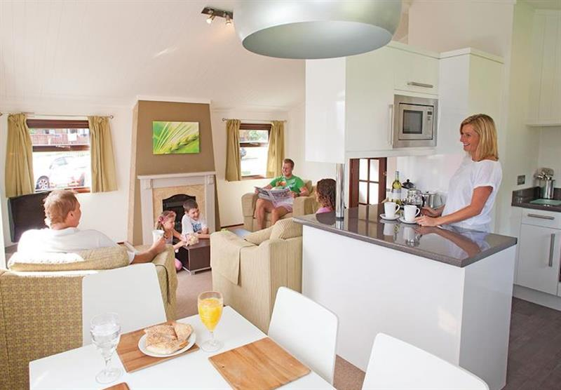 Inside the Premier Plus 6 Lodge at Beverley View in Paignton, South Devon