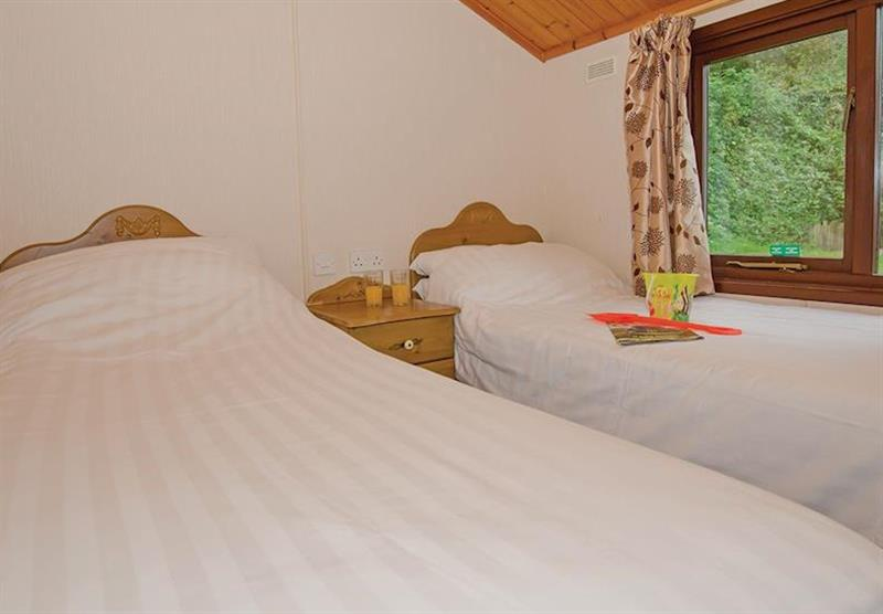Twin bedroom in the Comfort Plus 6 Lodge at Beverley View in Paignton, South Devon