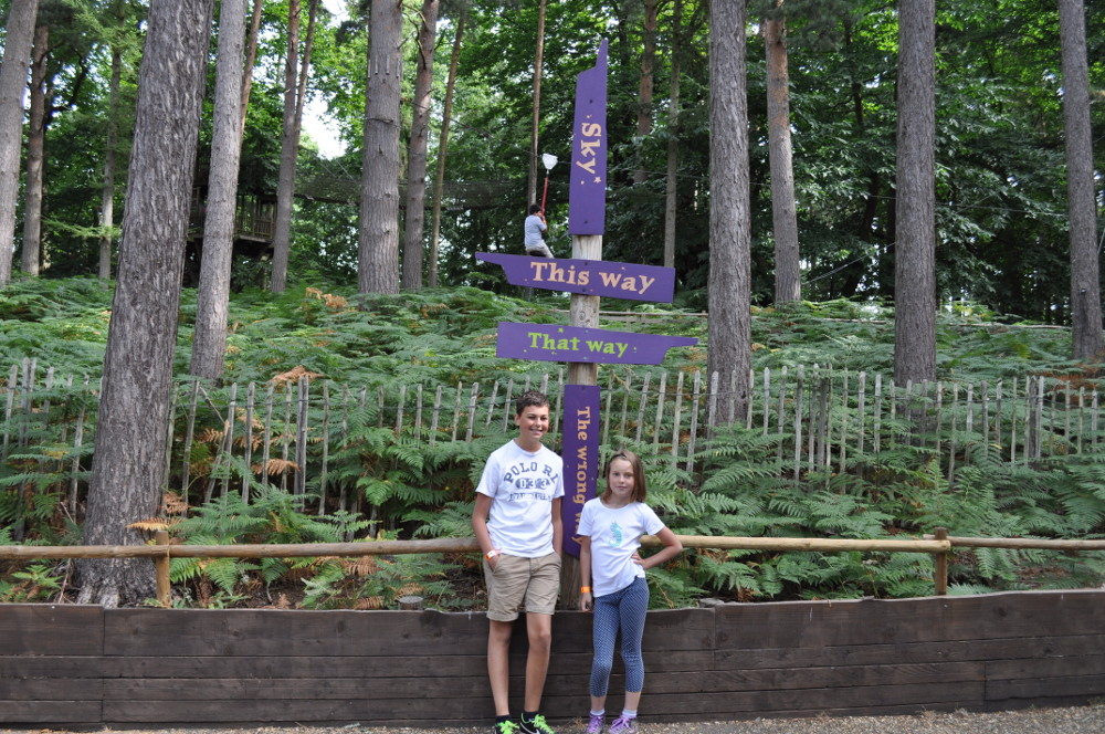 When exploring BeWILDerwood you can go this way or that way…