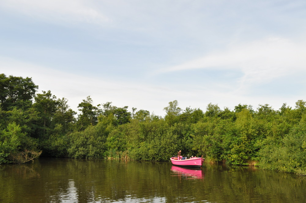 The boat on the Lake at BeWILDerwood