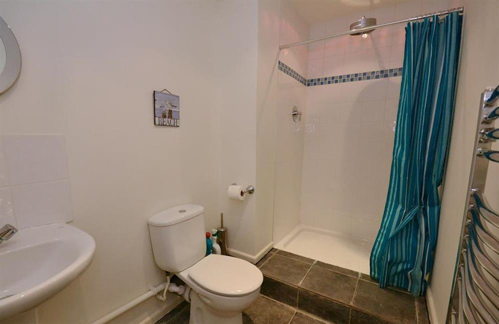 The first floor shower room at Blackberry Cottage, Slapton
