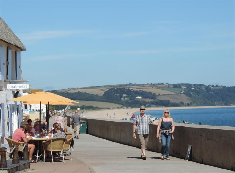 The seafront at Torcross at Blackberry Cottage, Slapton